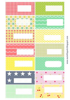Free printable pattern tags and labels ♥ ausdruckbare Etiketten ♥ freebie | MeinLilaPark – DIY printables and downloads