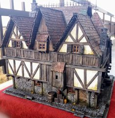 Casa Medieval Minecraft, Medieval Houses, Medieval World, Medieval Town, Model Building, Building A House, Estilo Tudor, Halloween Diorama, Chateau Medieval