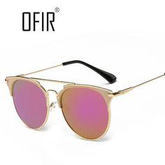 패션 복고풍 라운드 고양이 눈 선글라스 남성 여성 디자이너 안경 금속 프레임 UV400 안경 oculos 드 졸 lunette 드 솔레