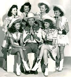 Roy Rogers and Cowgirls  Poor Roy! LOL That I think is the troupe that usually danced with Dale and him :)