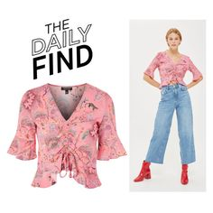 """""""Daily Find: Topshop Blouse"""" by polyvore-editorial ❤ liked on Polyvore featuring Topshop and DailyFind"""