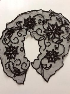 Victorian Black Lace Black Glass Jet Beads Neck Collar Dress Adornment Accouterment by TimelessTreasuresVCB on Etsy https://www.etsy.com/listing/515018473/victorian-black-lace-black-glass-jet