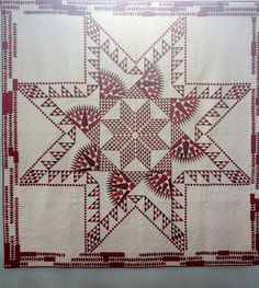 Red and white quilt,Tokyo International Great Quilt Festival, photo by Alyce | Sew Blossom Heart.
