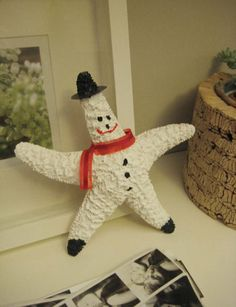 You can also make santa starfish. http://www.younghouselove.com/2008/12/frosty-the-starfish/