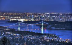 The beautiful lights of #Vancouver, Canada