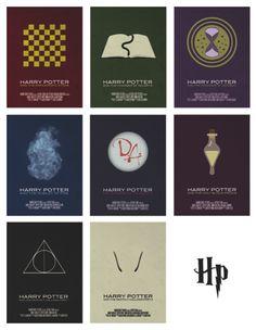 Simplistic Harry Potter posters