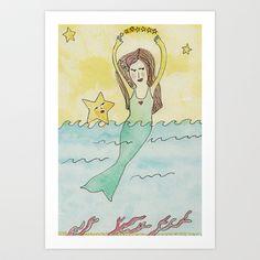 """My Mermaid"" Art Print by Animals Art Visions - $25.00"