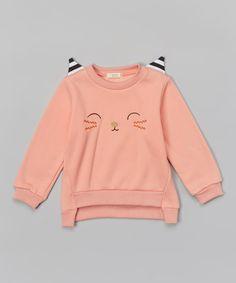 Pink Cat Sweatshirt - Infant, Toddler & Girls