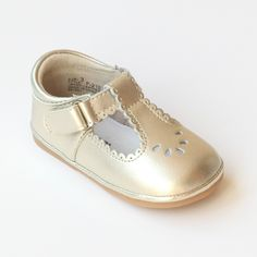 7c5841a6c72 Angel Baby Girls Scalloped T-Strap Mary Janes