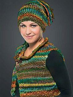 b979ab526e5a7 Design 5   6 Vest   Hat pattern by Lana Grossa