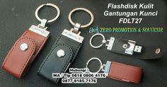 Jual Souvenir Flashdisk Kulit Gantungan Kunci FDLT27