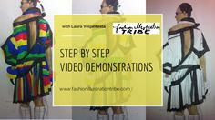 learn fashion online at Fashion Illustration Tribe fashion school fashion illustration, fashion drawing, fashion art and fashion design course program $1500 intensive, also free mini video course on my website to try out!