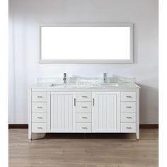 Extra Wide Double Bathroom Vanity hutton extra-wide single vanity | dream home | pinterest | single