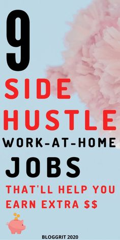 9 totally-doable side hustle jobs to make some extra cash every month! And you don't have to be an expert to do these work from home jobs! #entreprenuer #entreprenuertips #onlinebusiness #sidehustle #onlinebusinesstips #sidehustletips #startup #sidehustlejobs Extra Money Jobs, Earn Extra Cash, Typing Jobs From Home, Online Jobs From Home, Work From Home Tips, Make Money From Home, How To Make Money, Jobs For Housewives, Coding Jobs