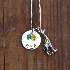 Epsilon Sigma Alpha Necklace with Giraffe Charm