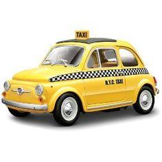 Yellow Fiat 500 - so cute!