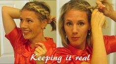 How to: DUTCH BRAID Your own Hair - YouTube