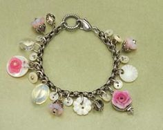 Vintage Blush Rose Button Bracelet at BBC Shop