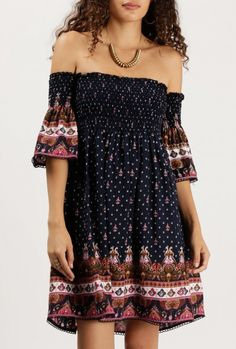 Boho chic dress we need in our wardrobe.