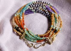 Gift of gemstones in joyous patterned by InspiredbyDesign on Etsy, $495.00
