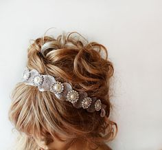 Bridal Hair Accessories Rhinestone and Pearl Headband by ADbrdal, $44.00 #wedding #weddingaccessory #weddinghair