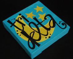 Tri Delta painted canvas small by sassifrassi on Etsy, $12.00