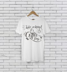 Take A Break Its Coffee Time Barista Unisex Tee Shirt https://www.etsy.com/listing/546666384/take-a-break-its-coffee-time-barista?utm_source=crowdfire&utm_medium=api&utm_campaign=api   I'm having a lazy weekend and this has definitely been packed in the suitcase. It's so soft though.