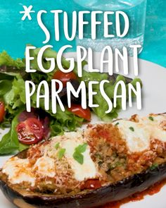 How To Make Stuffed Eggplant Parmesan -Tasty - Food Videos And Recipes Vegetarian Recipes Videos, Vegan Recipes Easy, Vegetable Recipes, Cooking Recipes, Meal Recipes, Recipies, Clean Eating Snacks, Healthy Snacks, Eggplant Dishes