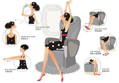 Get moving, even when the fasten seatbelt sign is on.