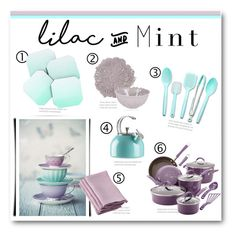 """Lilac and Mint Kitchen"" by lalalaballa22 ❤ liked on Polyvore featuring interior, interiors, interior design, home, home decor, interior decorating, Fitz and Floyd, Kate Spade, Room Essentials and DENY Designs"