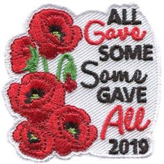 UK Remembrance Day Poppy 2018 Badge Scouting Guiding Camp Blanket Lest We Forget