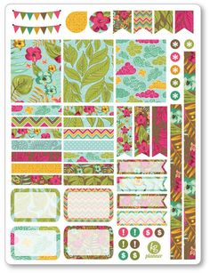 Aloha Decorating Kit / Weekly Spread Planner Stickers