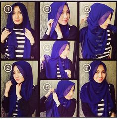 Fashionable hijab tutorial. Great work style