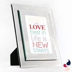Porta retrato espelhado: pode ser personalizado com uma frase escolhida por você!