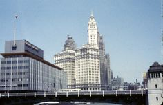 The old Chicago Sun-Times building...now the home of the new Trump Tower...see pic near here...that caused quite a stir in Chicago.