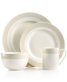 Martha Stewart Collection Classic Band Grey 4-Piece Place Setting -close but no cigar.