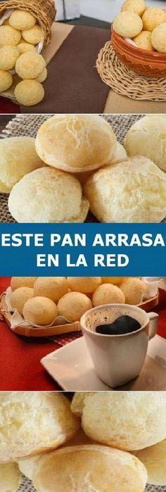 ℹ️Me super Encanto este Pan que arrasa em lá red My Recipes, Bread Recipes, Dessert Recipes, Cooking Recipes, Pan Dulce, Salty Foods, Pan Bread, Sin Gluten, Diy Food