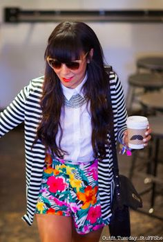 I have a thing for mixed prints. I think its so cute when done right!