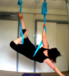http://youtu.be/hm6D-3qExY4 Me devising new positions on aerial hammock at low height. I like exploring being close to the ground.