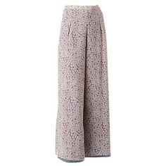 LC Lauren Conrad Floral Chiffon Wide-Leg Pants. I've wanted floral print wide leg pants forever, but I know it looks very '90s throwback. #Kohls