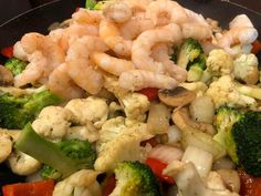 Scampi, Pasta Salad, Shrimp, Food And Drink, Meat, Ethnic Recipes, Diets, Noodle Salads, Macaroni Salad