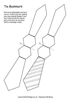 Here\'s a printable tie template for all of your Father\'s Day crafts ...