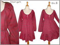 Tunika Kleid ROSALI himbeer rot S kissa-gato von kissa-gato auf DaWanda.com