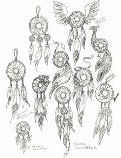 Resultado de imagem para how to draw dream catchers step by step Dream Catcher Drawing, Dream Catcher Tattoo Design, Dream Catchers, Bild Tattoos, Body Art Tattoos, Tatoos, Tattoo Sketches, Tattoo Drawings, Doodles Zentangles