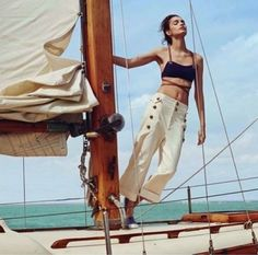 NAUTICAL FASHION Luma Grothe, Mexico Fashion, Sailing Holidays, Nautical Fashion, Nautical Style, Victoria, Harpers Bazaar, Model Photos, Surfing