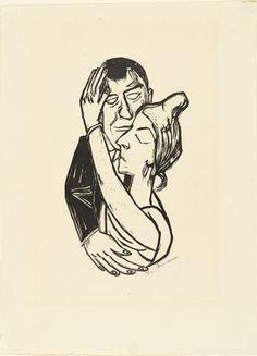 Dancing   Max Beckmann (German, 1884-1950)    (1922). Woodcut, composition:
