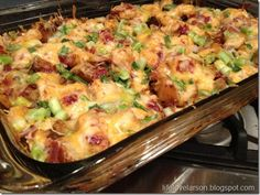 Buffalo Chicken and Potato casserole. Just checked my kitchen, and we have everything for it! Awesome, this is dinner tomorrow :)