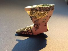 boot made from a 1$ bill