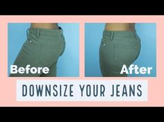 How to Downsize Your Jeans In 30mins ||SewAddicts - YouTube