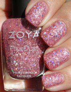 PixieDust | Ginni | Glittery pink tourmaline in ultra textured, matte, holographic Magical Pixie formula.